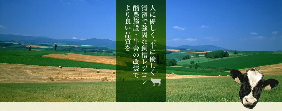 人に優しく、牛に優しく清潔で強固な飼槽レジコン 酪農施設・牛舎の改装でより良い品質を